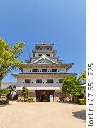 Купить «Главная башня (донжон) замка Имабари (построен в 1604, реконструирован в 1980 г.) в г. Имабари, о. Сикоку, Япония», фото № 7551725, снято 21 мая 2015 г. (c) Иван Марчук / Фотобанк Лори