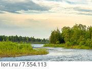 Пейзаж на реке Китой. Стоковое фото, фотограф Олег Голиков / Фотобанк Лори