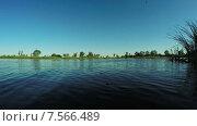 Купить «Берег реки», видеоролик № 7566489, снято 17 июня 2015 г. (c) Потийко Сергей / Фотобанк Лори