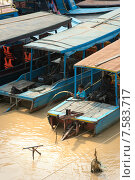 Озеро Тонлесап.Деревня на воде.Камбоджа. (2015 год). Редакционное фото, фотограф Евгений Андреев / Фотобанк Лори