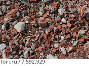 Строительный мусор из кирпичей. Стоковое фото, фотограф Александр Чернецов / Фотобанк Лори
