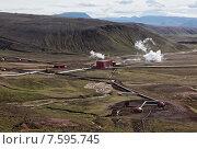 Термальная электростанция в Исландии (2013 год). Стоковое фото, фотограф Павел Нефедов / Фотобанк Лори