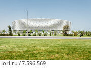 Купить «BAKU - MAY 10, 2015: Baku Olympic Stadium on May 10 in BAKU, Aze», фото № 7596569, снято 10 мая 2015 г. (c) Elnur / Фотобанк Лори