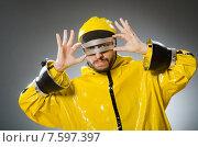 Man wearing metal glasses in techno concept. Стоковое фото, фотограф Elnur / Фотобанк Лори
