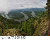 Купить «Панорама Манской петли», фото № 7600193, снято 21 июня 2015 г. (c) Михаил Зверев / Фотобанк Лори
