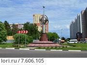 Купить «Монумент «Первый искусственный спутник Земли». Московская область, город Королёв, микрорайон Костино», эксклюзивное фото № 7606105, снято 2 июня 2015 г. (c) lana1501 / Фотобанк Лори