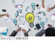 Composite image of business meeting. Стоковое фото, агентство Wavebreak Media / Фотобанк Лори