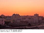 Рассвет в городе (2015 год). Стоковое фото, фотограф Сергей Васильев / Фотобанк Лори