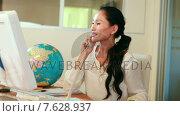 Купить «Casual businesswoman having phone call», видеоролик № 7628937, снято 18 июля 2019 г. (c) Wavebreak Media / Фотобанк Лори