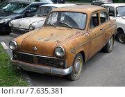 Брошенный старый автомобиль «Москвич» (2015 год). Редакционное фото, фотограф Иван Блынский / Фотобанк Лори