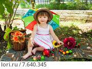 Девочка на пикнике (2015 год). Редакционное фото, фотограф ElenaGumerova / Фотобанк Лори