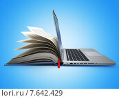 Купить «E-learning. Concept of education. Internet labrary. Book and Laptop.», фото № 7642429, снято 4 сентября 2018 г. (c) Maksym Yemelyanov / Фотобанк Лори