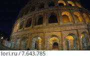 Купить «Колизей ночью. Рим. Италия», видеоролик № 7643785, снято 22 апреля 2015 г. (c) Данил Руденко / Фотобанк Лори