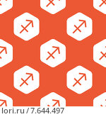 Купить «Orange hexagon Sagittarius pattern», иллюстрация № 7644497 (c) Иван Рябоконь / Фотобанк Лори