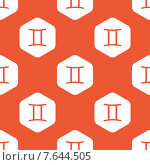 Купить «Orange hexagon Gemini pattern», иллюстрация № 7644505 (c) Иван Рябоконь / Фотобанк Лори