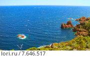 Купить «Средиземноморское побережье Франции», видеоролик № 7646517, снято 28 октября 2014 г. (c) Алексас Кведорас / Фотобанк Лори