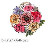Букет. Стоковая иллюстрация, иллюстратор Марина Комиссарова / Фотобанк Лори