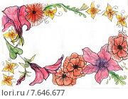 Рамочка. Стоковая иллюстрация, иллюстратор Марина Комиссарова / Фотобанк Лори