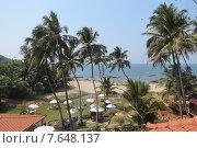 Пляж Вагатор, Северное Гоа, Индия (2015 год). Стоковое фото, фотограф Людмила Абрамова / Фотобанк Лори