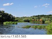 Зарайск, река Осётр. Стоковое фото, фотограф Светлана Хромова / Фотобанк Лори
