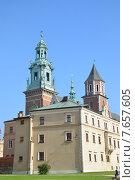 Польша. Замок Вавель в Кракове (2013 год). Стоковое фото, фотограф Беличенко Анна Сергеевна / Фотобанк Лори