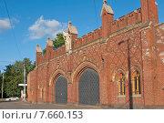 Фридландские ворота, вид сбоку Калининград (до 1946 года Кёнигсберг), Россия (2015 год). Редакционное фото, фотограф Svet / Фотобанк Лори