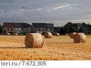 Купить «Стога на поле, европейский стандарт», фото № 7672305, снято 9 июля 2015 г. (c) Эдуард Цветков / Фотобанк Лори