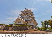 """Купить «Краеведческий музей """"замок Тиба"""" в г. Тиба, Япония. Построен в 1967 г. на месте бывшего замка Тиба, разрушенного в XV в.», фото № 7675945, снято 26 мая 2015 г. (c) Иван Марчук / Фотобанк Лори"""