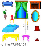 Купить «Античная и современная мебель для спальни и гостиной», иллюстрация № 7676109 (c) Мадина Фаттахова / Фотобанк Лори