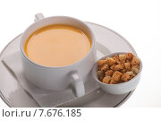 Купить «Крем-суп с крекерами», фото № 7676185, снято 8 августа 2012 г. (c) Барковский Семён / Фотобанк Лори