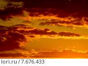 Купить «Оранжевый небесный пейзаж», фото № 7676433, снято 21 января 2014 г. (c) Сергей Трофименко / Фотобанк Лори