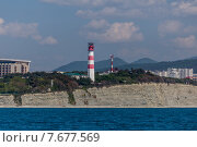 Купить «Геленджикский маяк», эксклюзивное фото № 7677569, снято 19 мая 2015 г. (c) Алексей Шматков / Фотобанк Лори