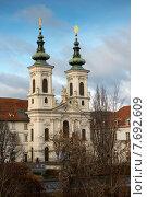 Купить «Церковь Мариахильф (Mariahilfkirche) в Граце, Австрия», фото № 7692609, снято 6 января 2013 г. (c) Алексей Зарубин / Фотобанк Лори