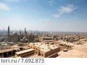 Купить «Вид на Каир с мечетью Sultan Hassan (Султана Хасана) и Al Rifai (Аль-Рифаи)», фото № 7692873, снято 8 мая 2013 г. (c) Алексей Зарубин / Фотобанк Лори