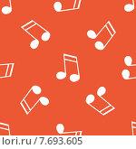 Купить «Orange 16th note pattern», иллюстрация № 7693605 (c) Иван Рябоконь / Фотобанк Лори