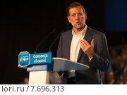 Barcelona, __Spain, Mariano Rajoy, President of the Partido Popular (2011 год). Редакционное фото, агентство Caro Photoagency / Фотобанк Лори