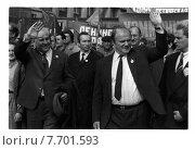 Купить «Геннадий Зюганов на митинге», фото № 7701593, снято 23 августа 2019 г. (c) Борис Кавашкин / Фотобанк Лори