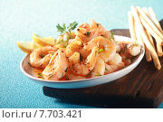 Купить «Appetizer of grilled pink prawns or shrimp», фото № 7703421, снято 24 января 2019 г. (c) PantherMedia / Фотобанк Лори