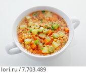 Купить «Wholesome bowl of lentil and leek soup», фото № 7703489, снято 12 декабря 2018 г. (c) PantherMedia / Фотобанк Лори