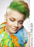 Купить «Young Woman with Colorful Makeup and Short Painted Coiffure», фото № 7704329, снято 3 июня 2020 г. (c) PantherMedia / Фотобанк Лори