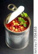 Купить «Opened can of wholesome vegetable soup», фото № 7704853, снято 21 сентября 2018 г. (c) PantherMedia / Фотобанк Лори