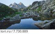 Купить «Пруд в горах», фото № 7730889, снято 14 июля 2015 г. (c) александр жарников / Фотобанк Лори