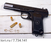 Купить «Tokarev pistol used by the Red Army», фото № 7734141, снято 23 апреля 2019 г. (c) PantherMedia / Фотобанк Лори
