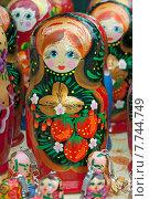 Купить «Матрёшка, русский национальный сувенир», эксклюзивное фото № 7744749, снято 11 июля 2015 г. (c) Svet / Фотобанк Лори