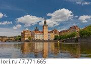 Музей Сметаны и Водонапорная Башня Старого Города (1577 г.) в Праге, Чехия. Объект ЮНЕСКО (2015 год). Стоковое фото, фотограф Иван Марчук / Фотобанк Лори