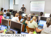 Купить «Урок информатики в университете», фото № 7908741, снято 23 февраля 2020 г. (c) Matej Kastelic / Фотобанк Лори