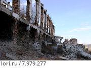 Развалины горно-обогатительного комбината (ГОК) Туим, Хакасия (2015 год). Стоковое фото, фотограф Майя Галенко / Фотобанк Лори
