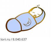Купить «baby sleep sleeping newborn neonate», фото № 8040637, снято 24 марта 2019 г. (c) PantherMedia / Фотобанк Лори