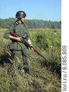 Солдат вермахта (2005 год). Редакционное фото, фотограф Сергей Куранов / Фотобанк Лори