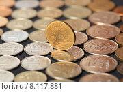 Купить «Российские монеты», эксклюзивное фото № 8117881, снято 23 июля 2015 г. (c) Яна Королёва / Фотобанк Лори
